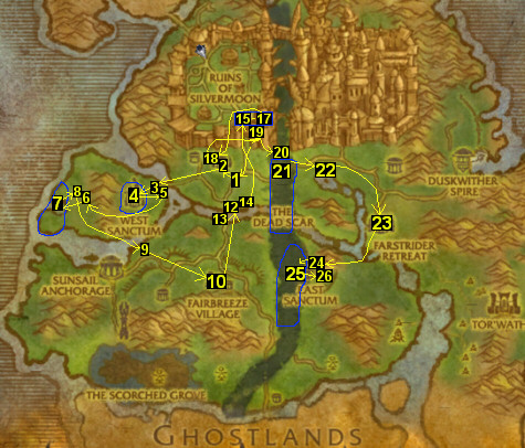 1-25 (Horde) Blood Elf - Eversong Woods & Ghostlands